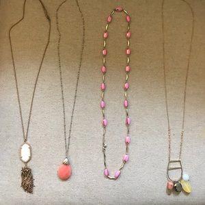 Delicate necklace bundle of 4